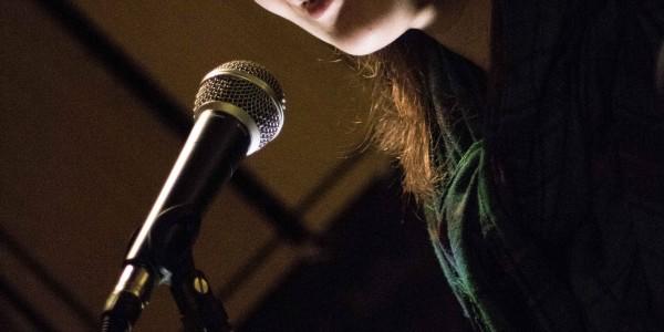 Vivienne Burgess reads poetry at Oxjam Uxbridge 2016